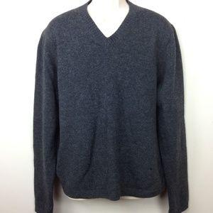 Brooks Brothers Gray Cashmere Wool Sweater Sz XL